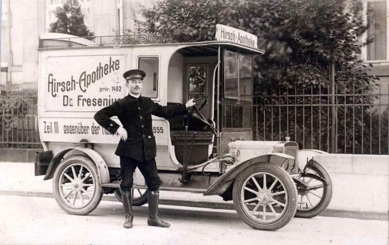 Apotheken Lieferwagen Fresenius