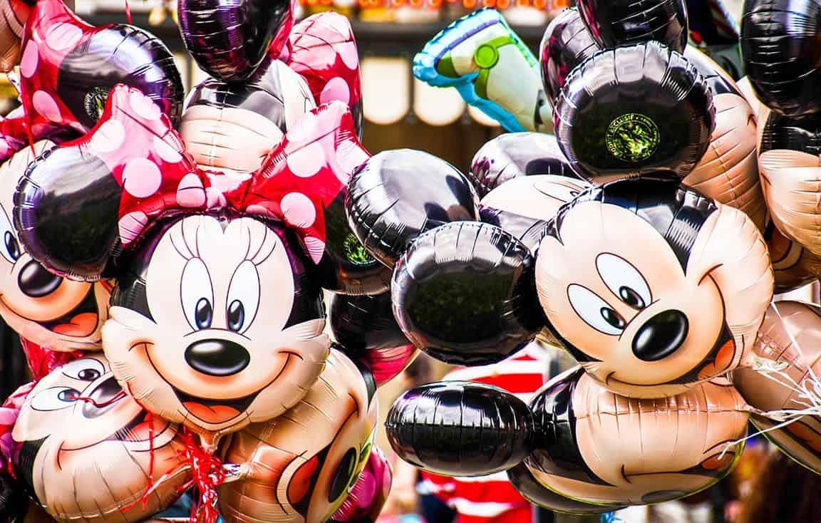 Mickey und Minnie Maus als Luftballon