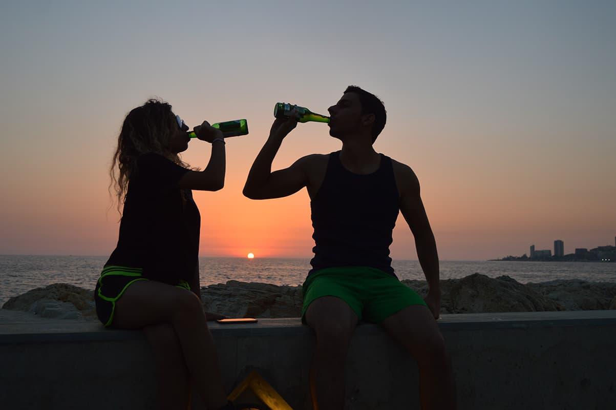 Gemütlicher Abend mit Bier