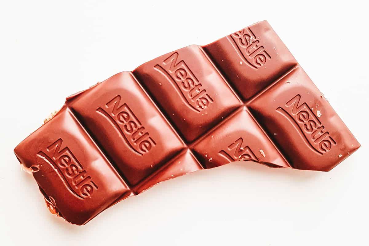 Nestlé angebissene Schokolade