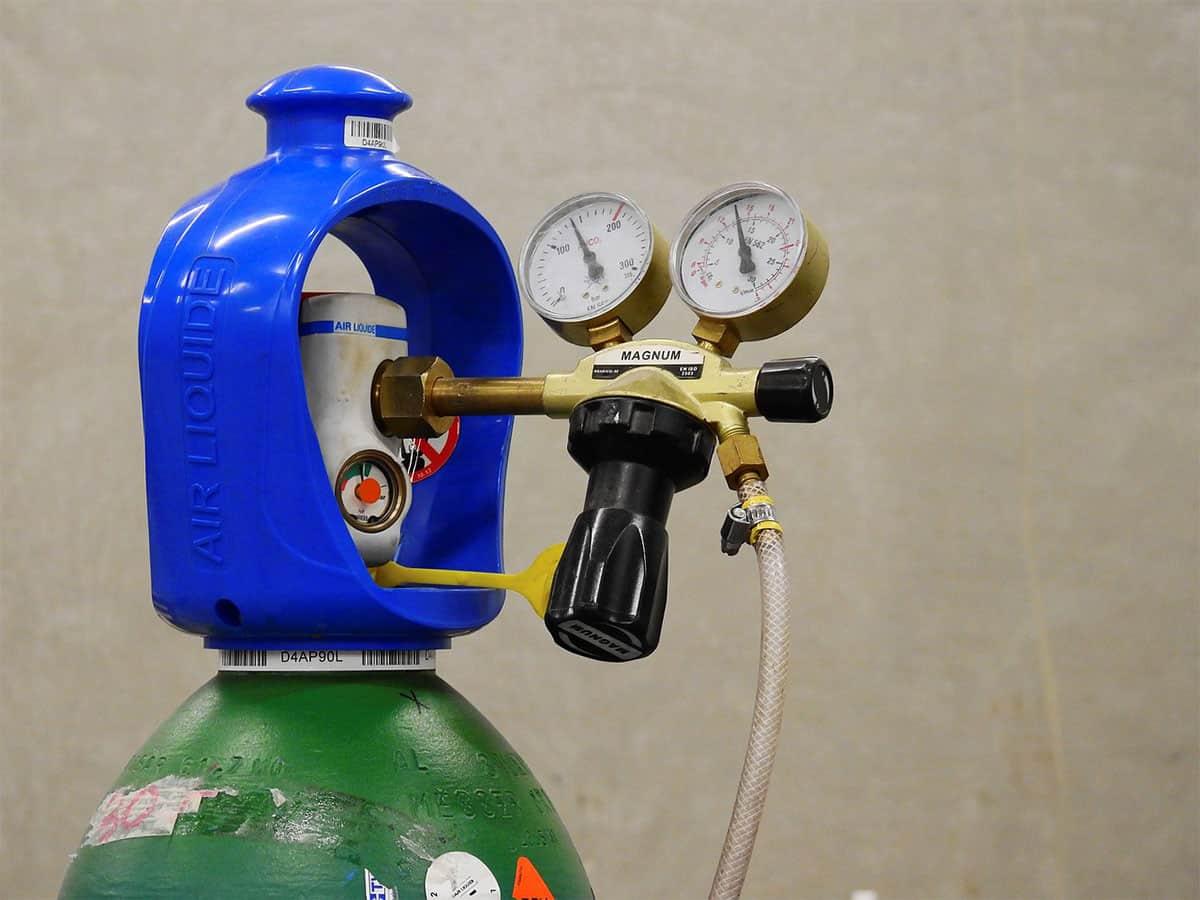 Gasflasche von Air Liquide