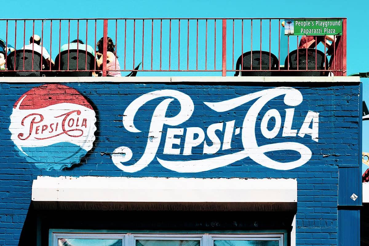 Pepsi Cola Wandmalerei
