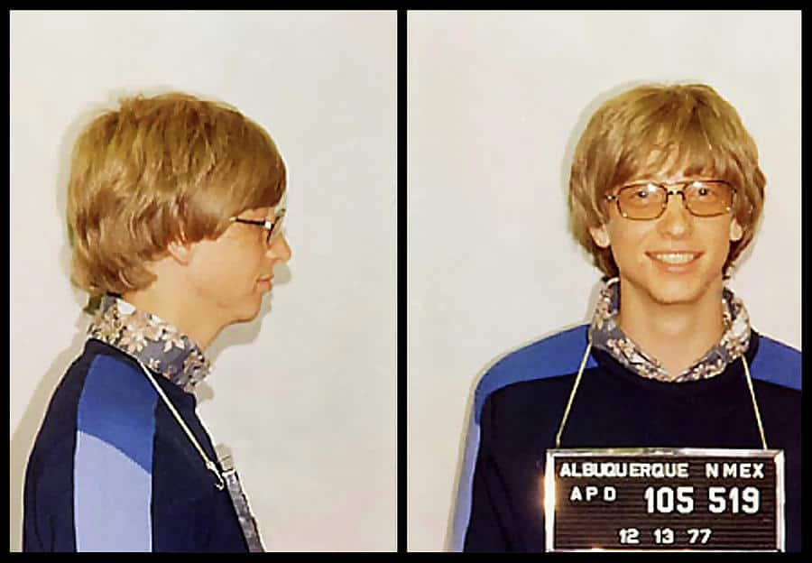 Bill Gates Festnahme im Jahr 1977