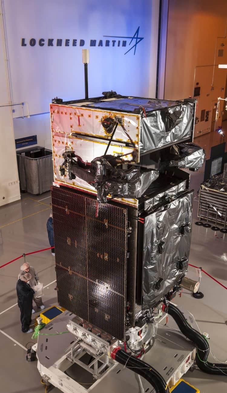 Raketen-Frühwarn-Militärsatellit von Lockheed Martin