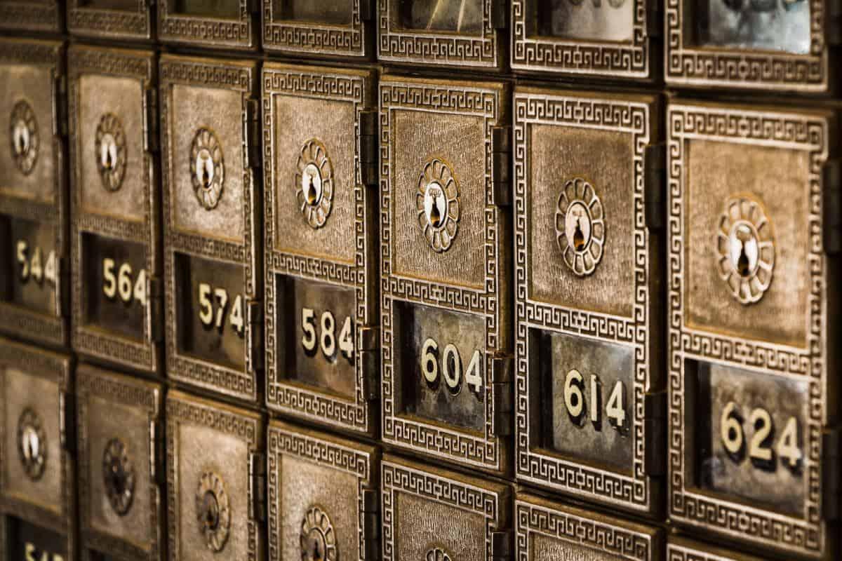 Alter Schließfachraum einer Bank