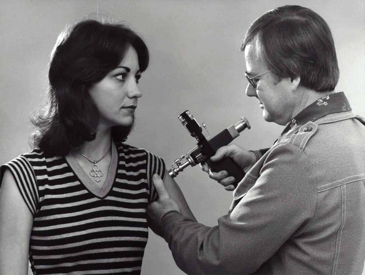 Historisches Foto einer Impfung