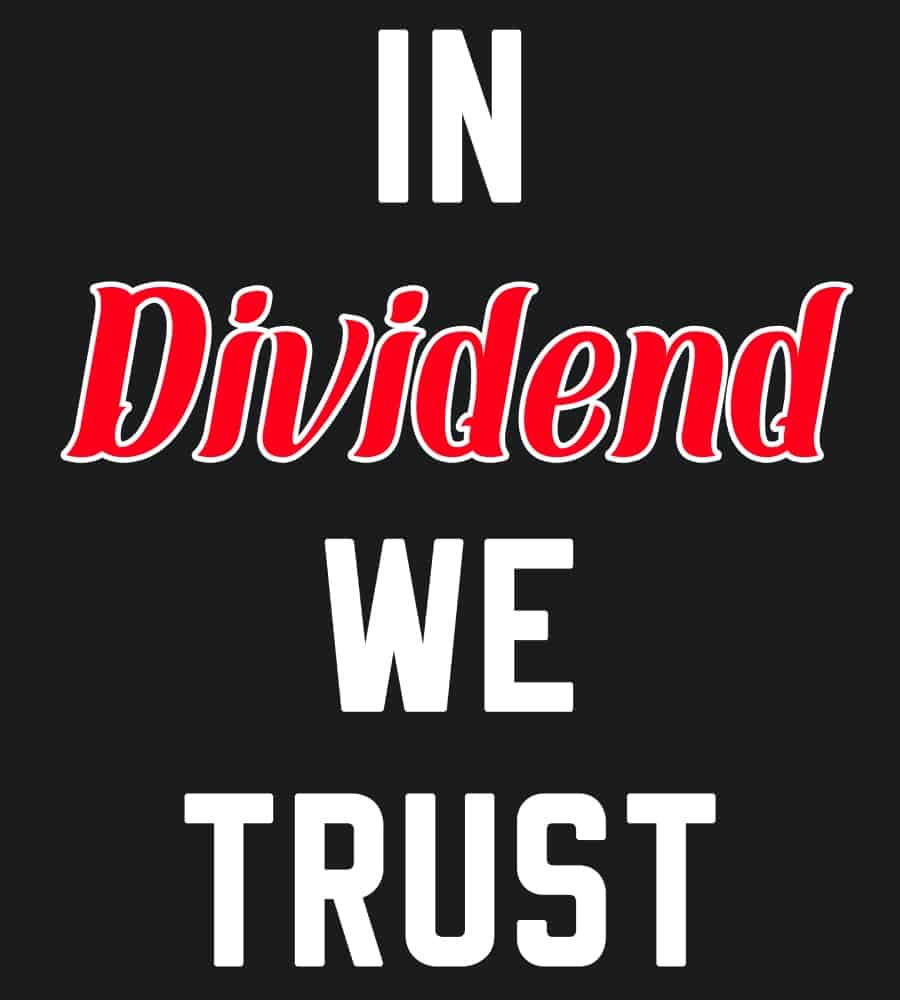 In Dividend we trust black