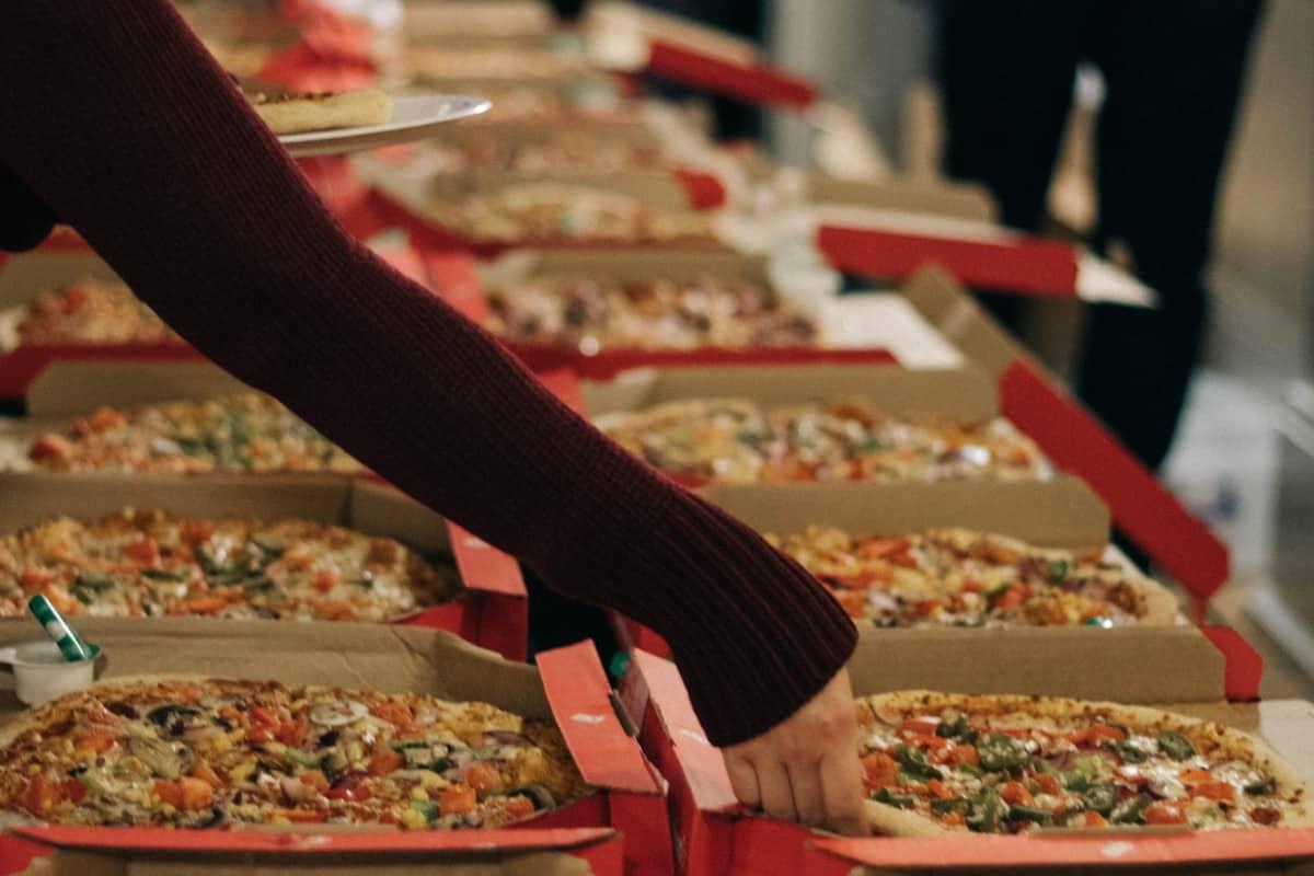 Pizzakartons von Dominos