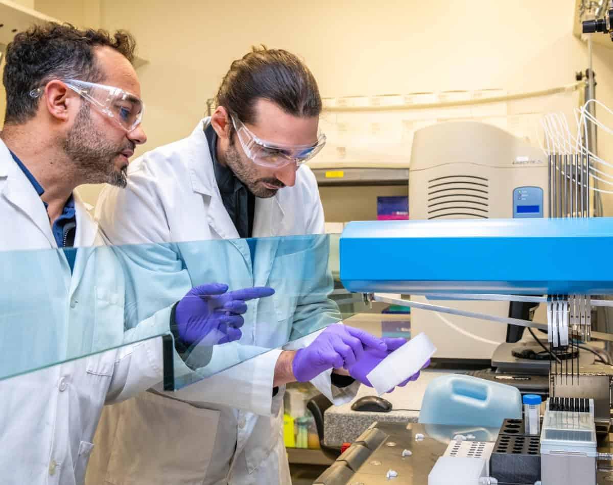 Mitarbeiter im Labor bei Thermo Fisher Scientific