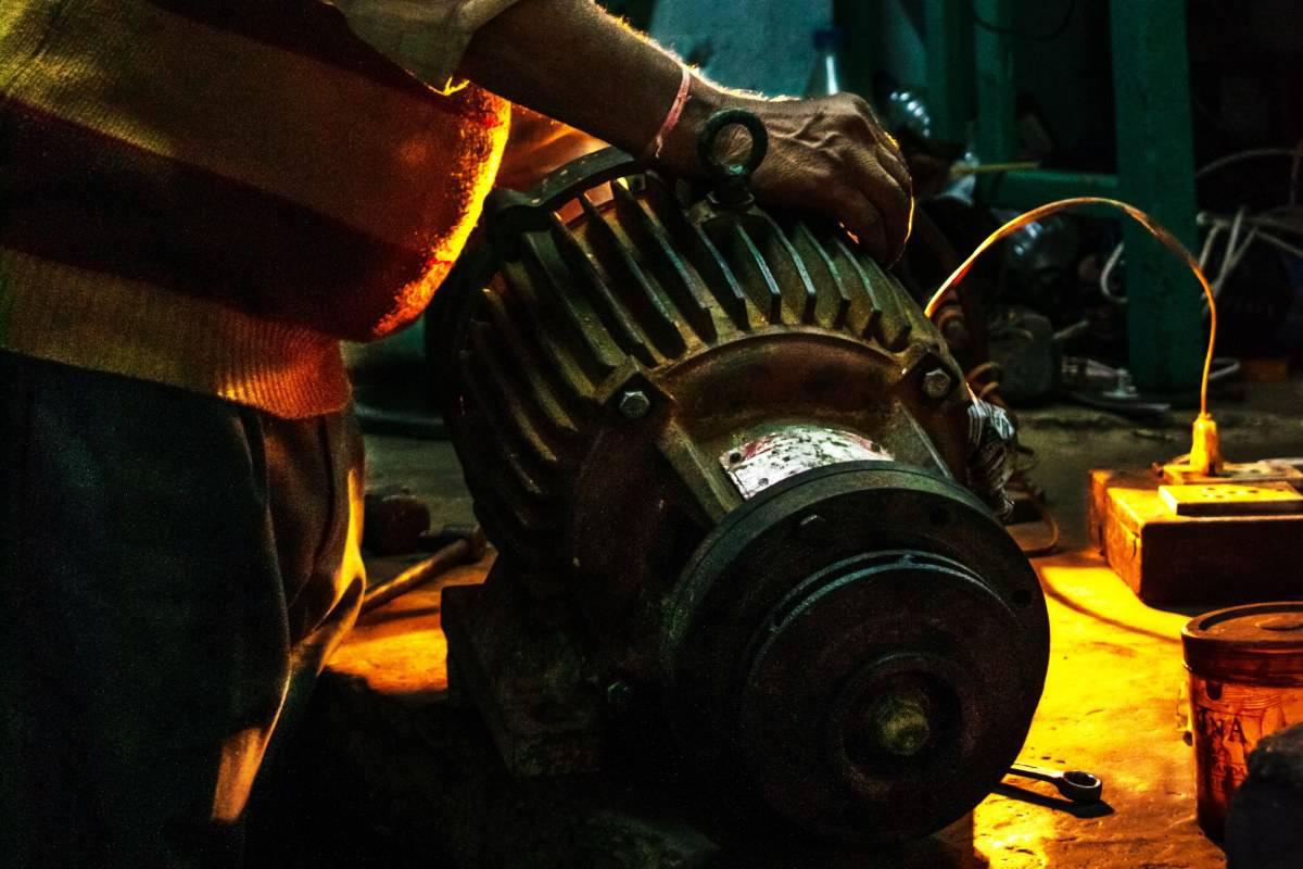 Schwerer Motor von Ametek