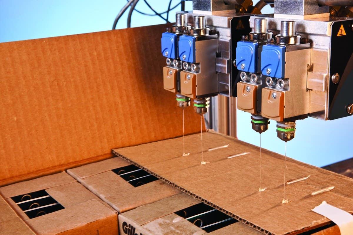 Klebebeschichtung für die Verpackungsindustrie von Nordson