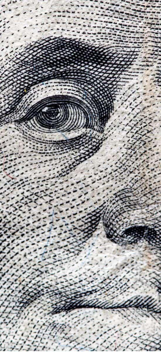 Benjamin Franklin auf der Dollarnote