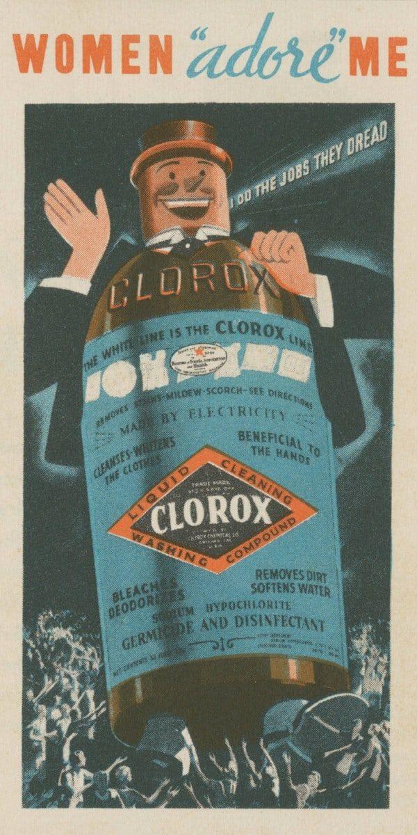 Alte Clorox Werbung aus dem Jahr 1943