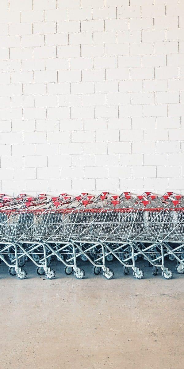 Einkaufswägen vor Costco Wholesale Läden