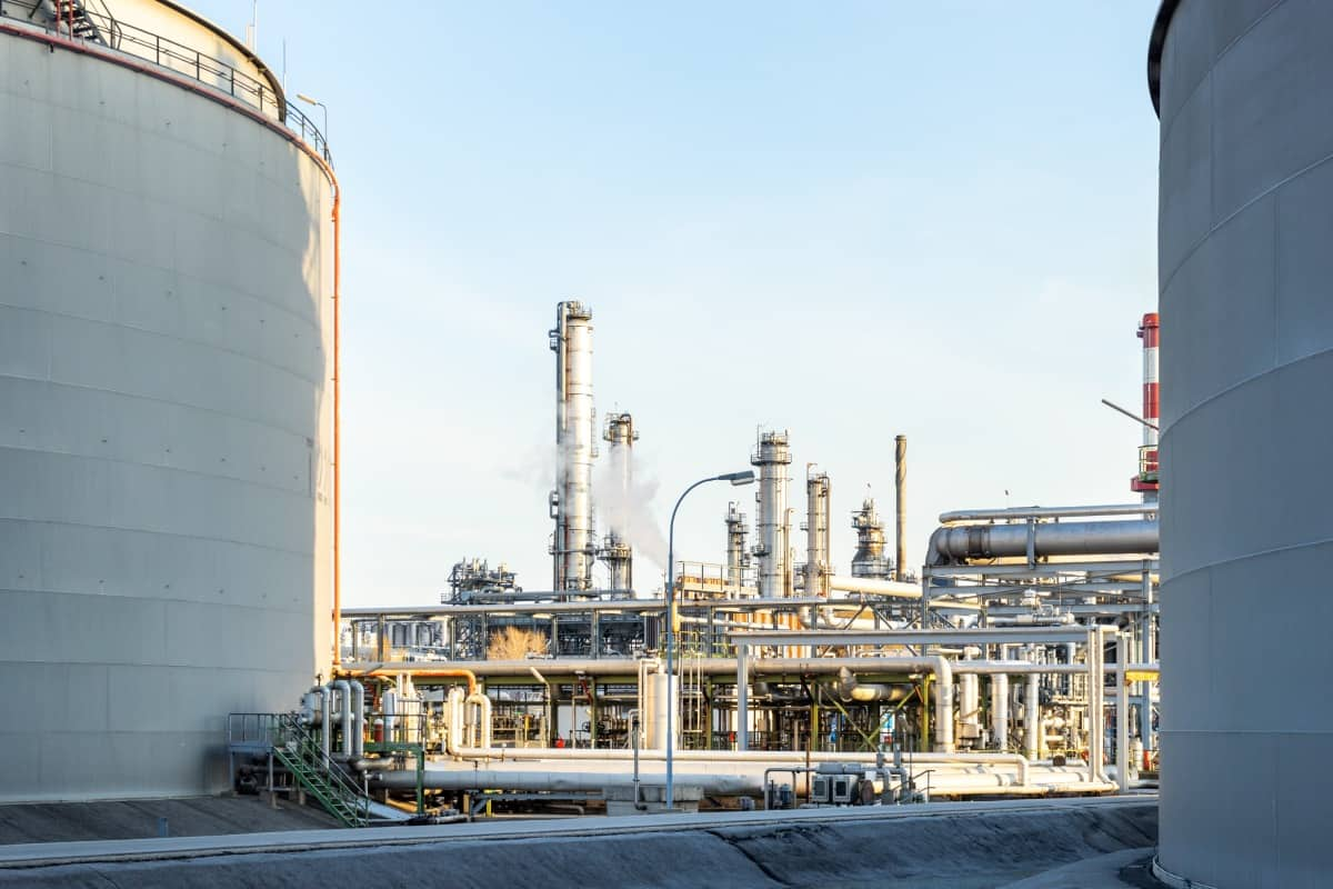 Industrieanlage bei Air Products and Chemicals