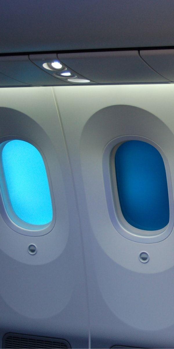 Boeing nutzt dimmbare Fenster aus dem Hause Gentex