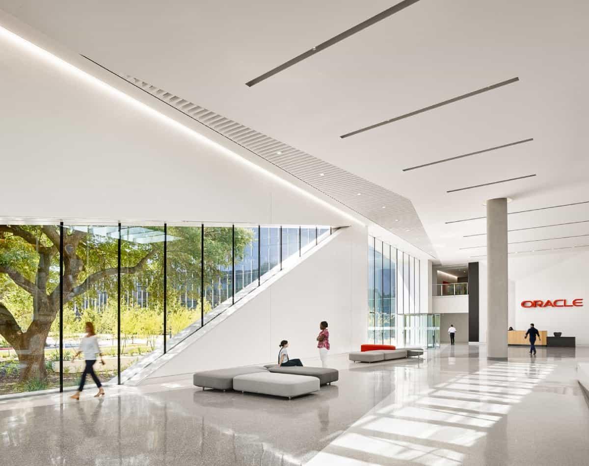Einblick in das neue Hauptquartier des Softwarekonzerns im Bundesstaat Texas